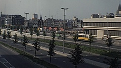 Utrecht 1977: traffic just outside the city centre Stock Footage