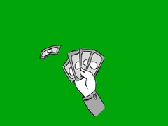 Hand money   hand drawn   Green Screen   SD Stock Footage