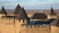 Old castle, stone fortress in Khotyn city, western Ukraine HD Footage