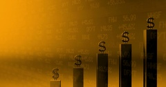 Graph Dollar sign grow in wall street environment Stock Footage