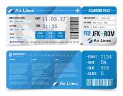 Boarding Pass Composition Stock Illustration
