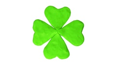 Clover four leaf. St. Patrick's day. Alpha matte Stock Footage