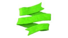 St. Patrick's day Ribbon. Alpha matte. 4K Stock Footage