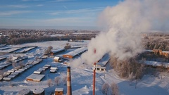 Thermal power plant, boiler house Stock Footage