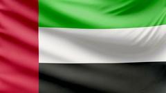 Realistic beautiful United Arab Emirates flag 4k Stock Footage