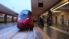 High speed train in station Stock Footage