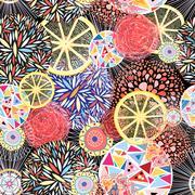 Abstract bright pattern Stock Illustration