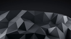 Low poly black shape vibrating seamless loop 3D animation 4k UHD (3840x2160) Stock Footage