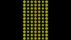Yellow Stars Pattern Beats Stock Footage