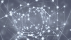 Abstract motion background light particles shiny streak mesh connections loop. Stock Footage