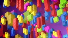 Tetris game. Stock Footage