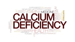 Calcium defficiency animated word cloud, text animation. Kinetic typography. Stock Footage