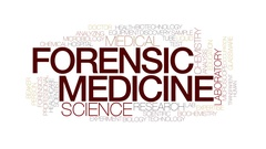 Forensic medicine animated word cloud, text animation. Kinetic typography. Stock Footage
