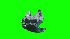 Meteorite stone rotation chromekey Stock Footage