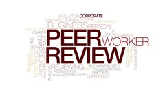 Peer review animated word cloud, text design animation. Kinetic typography. Stock Footage