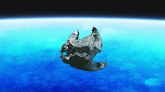 Meteorite stone rotation earth Stock Footage