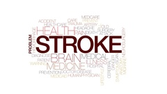 Stroke animated word cloud, text design animation. Kinetic typography. Stock Footage