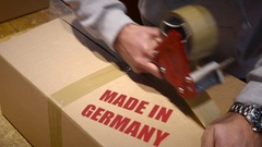 Shipment of goods made in Germany Stock Footage