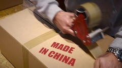 Shipment of goods made in china Stock Footage