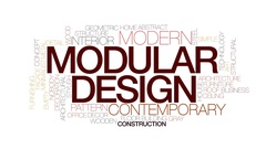 Modular design animated word cloud, text design animation. Kinetic typography. Stock Footage