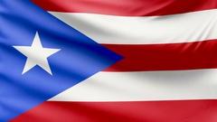 Realistic beautiful Puerto Rico flag 4k Stock Footage