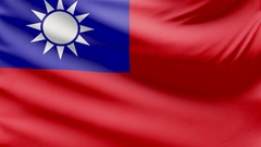 Realistic beautiful Republic of China flag 4k Stock Footage
