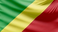 Realistic beautiful Congo flag 4k Stock Footage