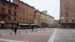 Basilica of San Petronio in Bologna's city center. Stock Footage