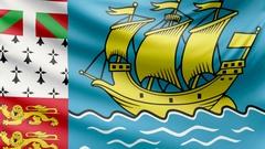 Realistic beautiful Saint Pierre and Miquelon flag 4k Stock Footage