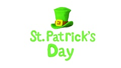 Hat and Title St. Patrick's day. Alpha matte. 4K Stock Footage