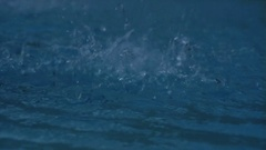 Bombarding Splashes in Water - 29,97FPS NTSC Stock Footage