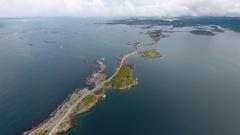 Atlantic Ocean Road in Norway Arkistovideo