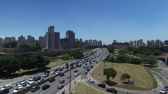 Aerial View of Radial Leste Avenue, in Sao Paulo, Brazil Stock Footage