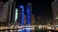 UHD 4K Dubai Marina night time lapse, United Arab Emirates 4k or 4k+ Resolution