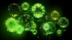 4K firework background. colorful fireckrackers at holiday night. version 13 Stock Footage