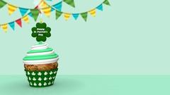 Cake Patrick's Day Stock Footage