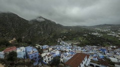 Rif Mountains Chefchaouen Morocco Timelapse Stock Footage