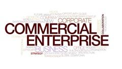 Commercial enterprise animated word cloud, text animation. Kinetic typography. Stock Footage