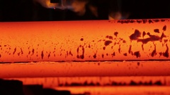 Steelmaking process, red-hot iron Stock Footage