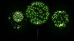 4K firework background. colorful fireckrackers at holiday night. different Stock Footage