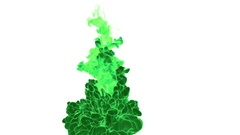 Dissolve green watercolor in water or smoke in air for effects and compositing Stock Footage