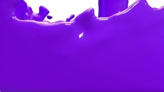 Animated violet car paint pouring and filling up screen. Alpha  Stock Footage