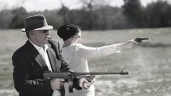 American Gangsters Stock Footage