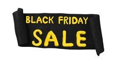 Black Friday Sale Clay Ribbon. Alpha matte. 4K Arkistovideo