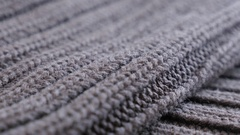 Brown sweater details and knitwork close up Stock Footage