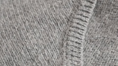 Close up of modern hairy women sweater knitting texture Stock Footage