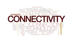 Connectivity animated word cloud, text design animation. Kinetic typography. Stock Footage