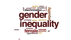 Gender inequality animated word cloud, text design animation. Stock Footage