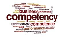 Competency animated word cloud, text design animation. Stock Footage