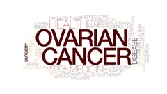 Ovarian cancer animated word cloud, text design animation. Kinetic typography. Stock Footage